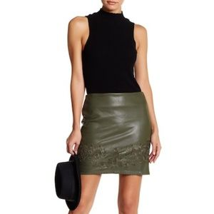 Romeo & Juliet Couture Faux Leather Mini Skirt